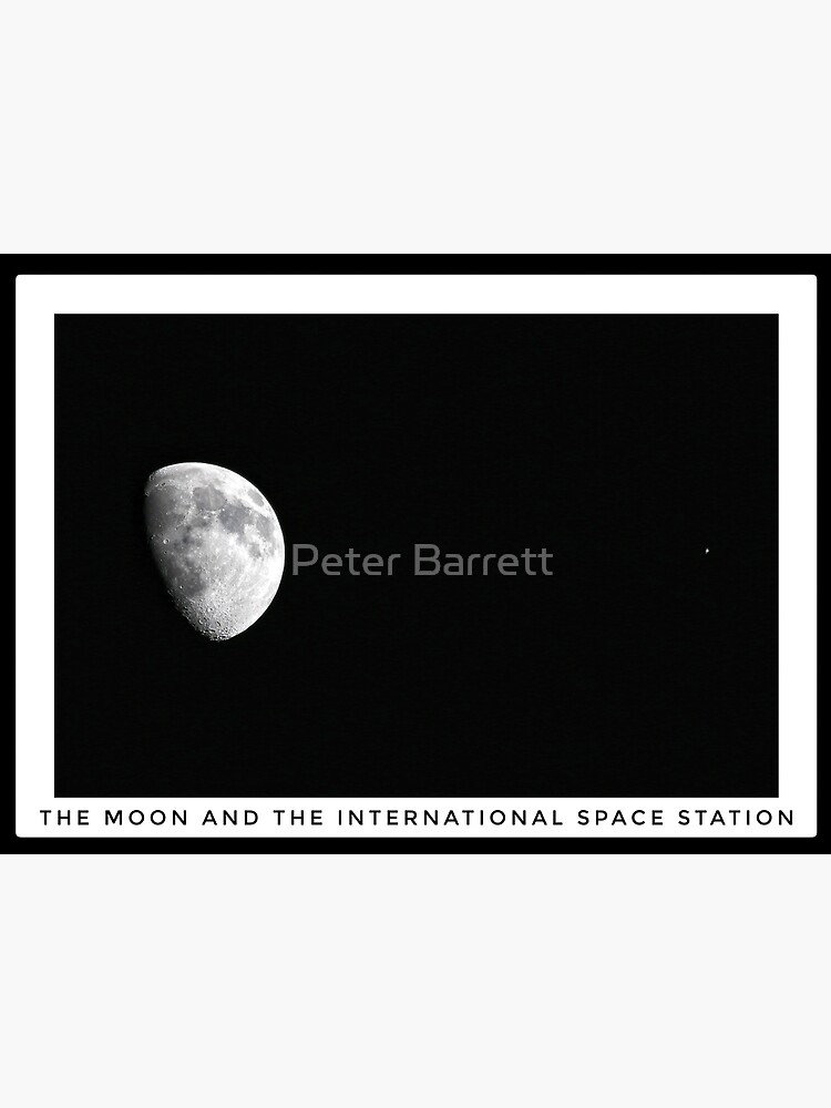 Moon and the International Space Station by hartrockets