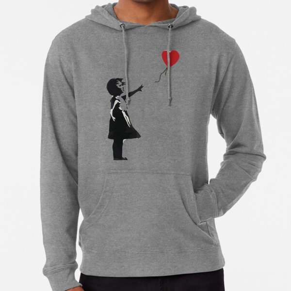 Banksy Balloon Girl Heart Men/'s Sweatshirt Jumper Graffiti Artist Banksy