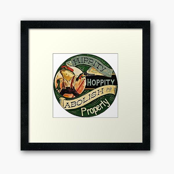 Abolish Property - Anarchist Frog Framed Art Print
