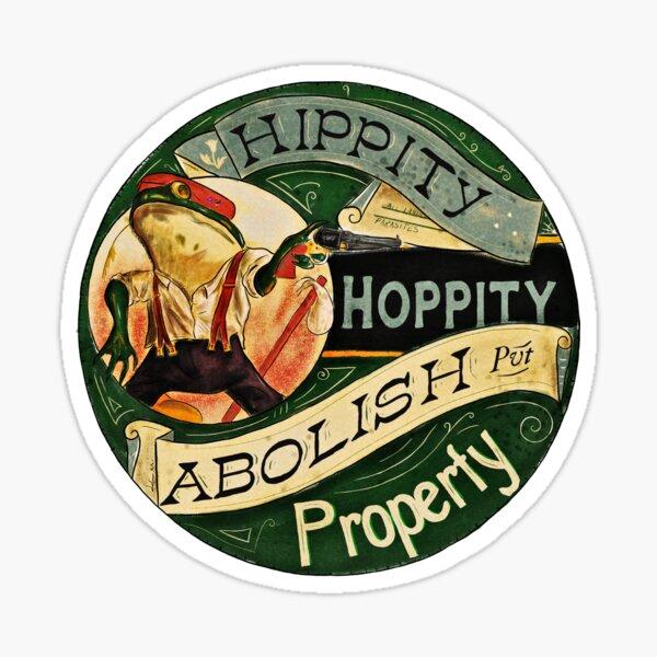Abolish Property - Anarchist Frog Sticker