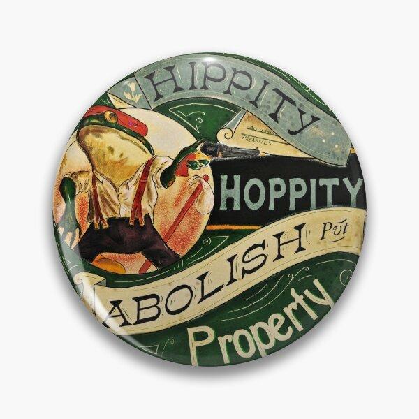 Abolish Property - Anarchist Frog Pin