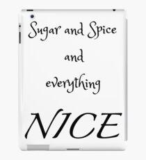 Sugar and Spice - white iPad Case/Skin