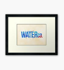 water co. Framed Print