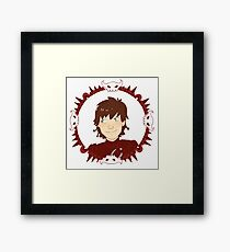 Hiccup Motif Framed Print