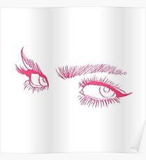 Rosa Augen Poster
