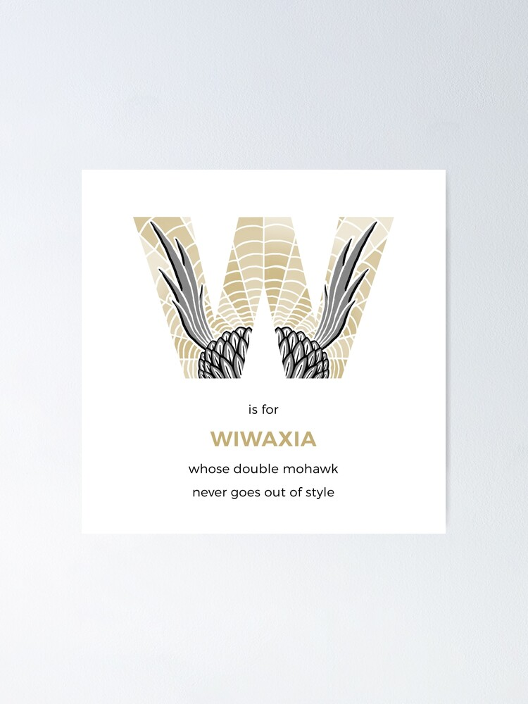 Alternate view of W is for Wiwaxia Poster