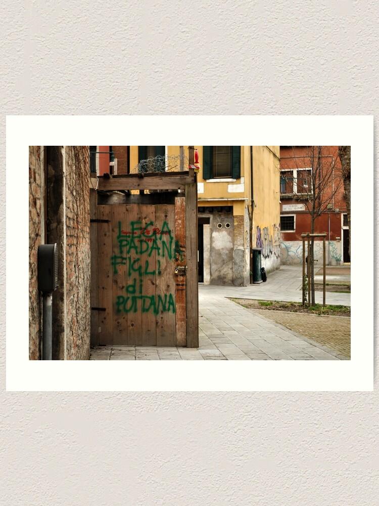 Alternate view of Lega Padana... Art Print