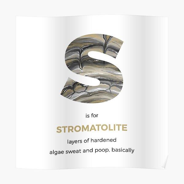 S is for Stromatolite Poster