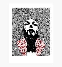 Grace - Fineliner Illustration Photographic Print