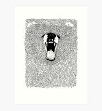 Grizzly - Fineliner Illustration Art Print