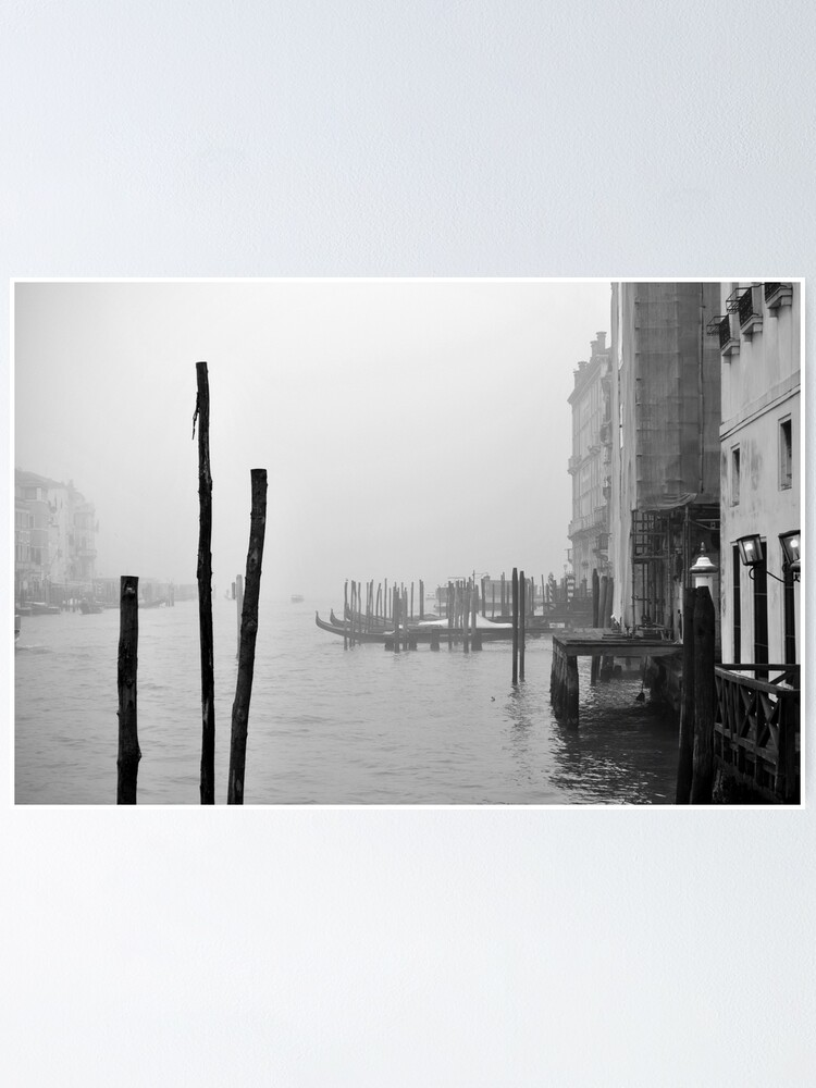 Alternate view of A Foggy Day in Venice Poster