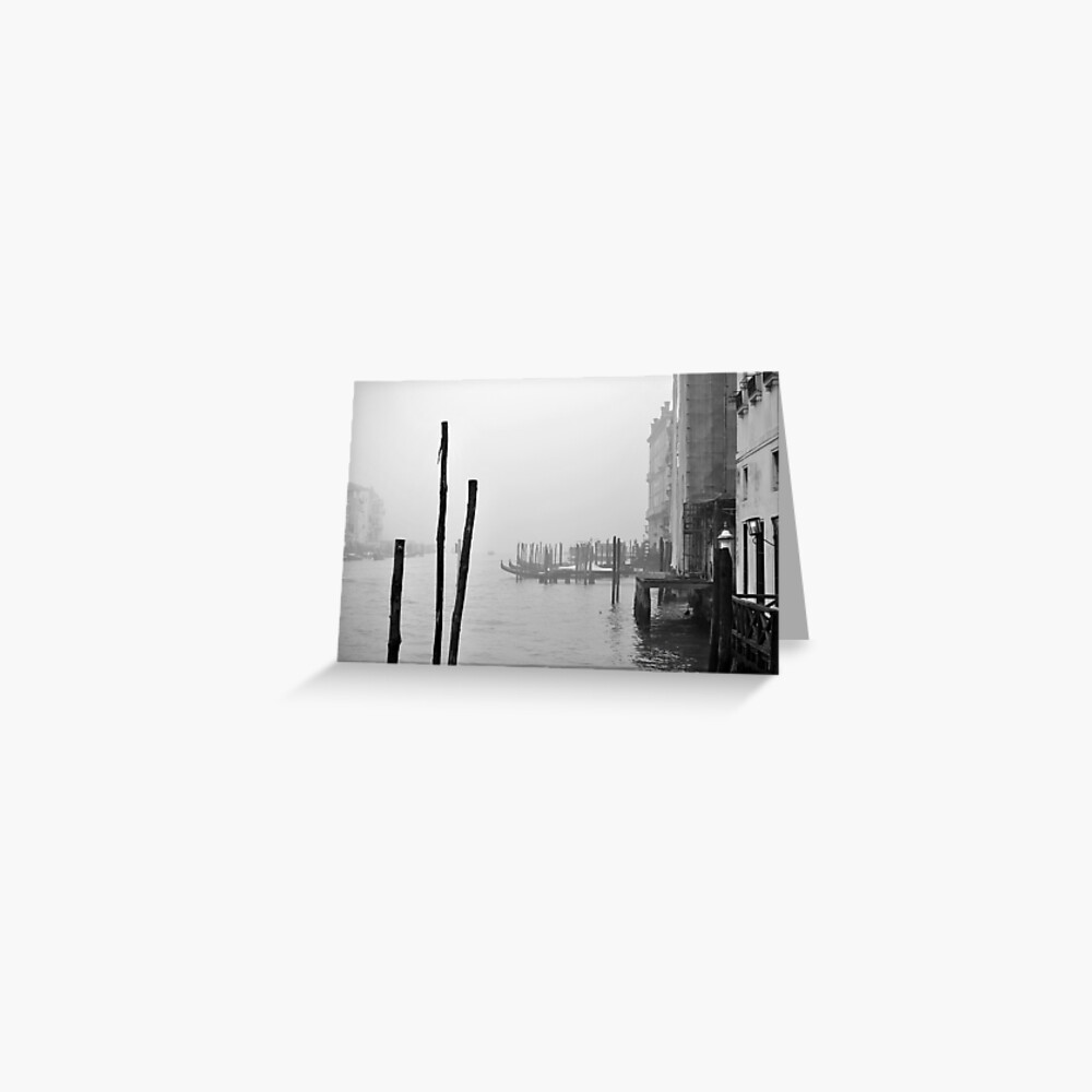 A Foggy Day in Venice Greeting Card