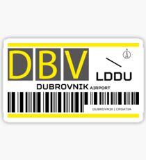 Destination Dubrovnik Airport Sticker