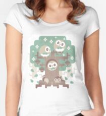 Wood Owl Woods Women's Fitted Scoop T-Shirt