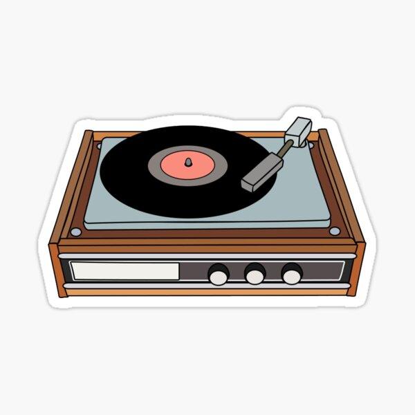 tourne-disque vinyle classique Sticker