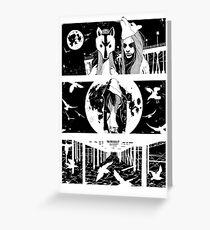 Midnight Masquerade - Fineliner Illustration Greeting Card