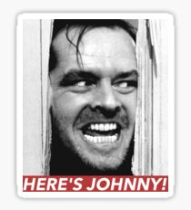 HERE'S JOHNNY Sticker