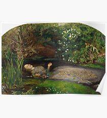 John Everett Millais - Ophelia.  Poster