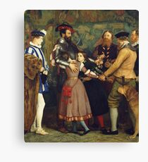John Everett Millais - The Ransom. Family portrait: father and son, mother and daughter, female and male, dad daddy, child baby, beautiful dress, lovely family, mothers day, memory, mom mam, friends Canvas Print