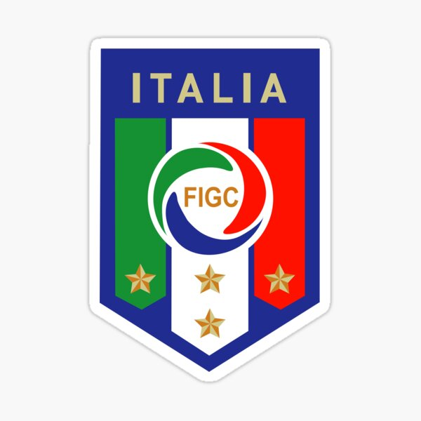 Logotipo de fútbol de Italia Pegatina
