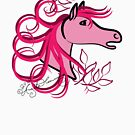 Horse Profile Rose Pink by AngelArtiste