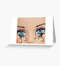 PopArt Tears! Greeting Card