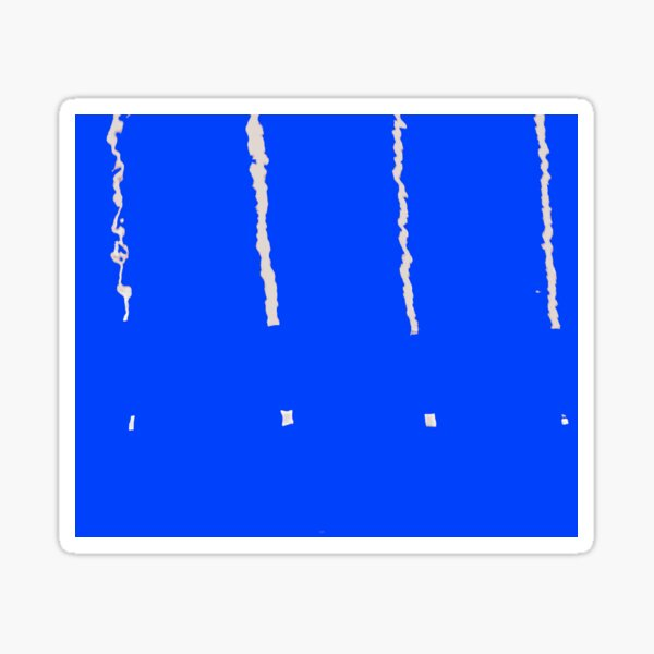 Abstract Line Reflection 00008 blue Sticker