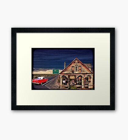 UFOS Have The Right-A-Way Framed Print