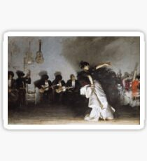 John Singer Sargent - El Jaleo1882. Dancer painting: dance, ballet, dancing woman, ballerina, tutu, femine, women, dancer, disco, dancers, girls Sticker