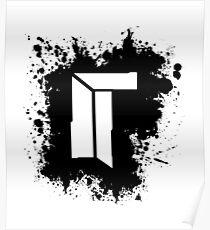Titan Splat - Black Poster