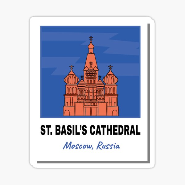 St. Basil's Cathedral - Moscow, Russia   Travelling Collection Sticker
