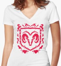 Ramblot (red) Women's Fitted V-Neck T-Shirt