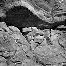 Bedrock Monochrome at Livermore Falls by Wayne King