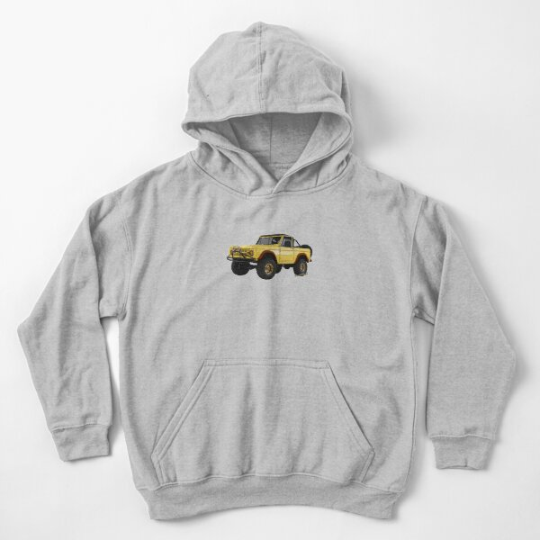 Yellow Dog Bronco T-Shirt and Other Stuff!!! Kids Pullover Hoodie