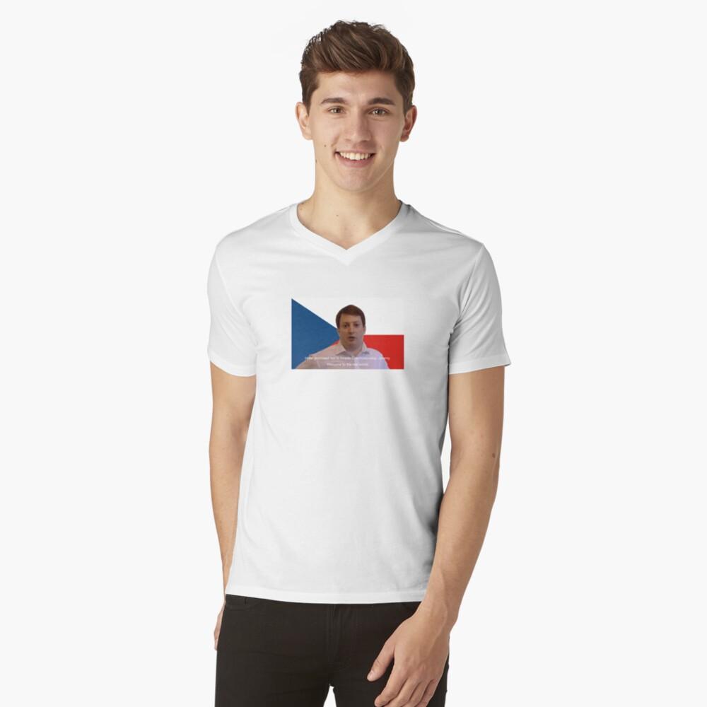 Peep-Show T-Shirt mit V-Ausschnitt