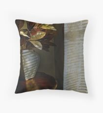 Shadow Vase Throw Pillow