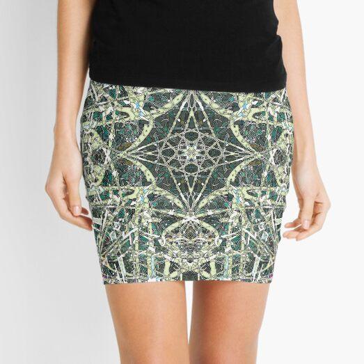 Tangled Green Water Mini Skirt