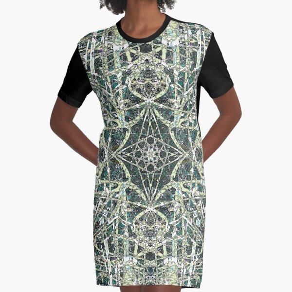 Tangled Green Water Graphic T-Shirt Dress