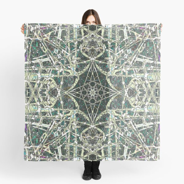 Tangled Green Water Scarf
