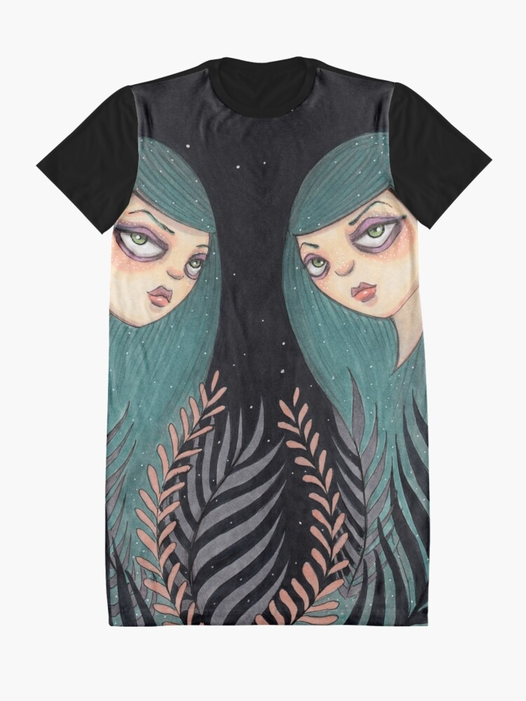 Alternate view of The Twins Graphic T-Shirt Dress