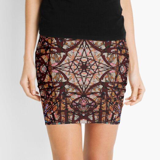 Tangled Red Water Mini Skirt