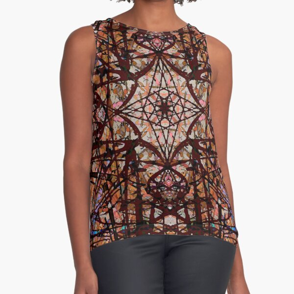 Tangled Red Water Sleeveless Top