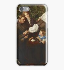 John Everett Millais - Peace Concluded. Family portrait: father and son, mother and daughter, female and male, dad daddy, child baby, beautiful dress, lovely family, mothers day, memory, mom, friends iPhone Case/Skin