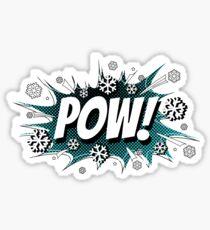POW! Snow, the deeper, the better. Sticker