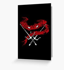 Red Wrath Greeting Card