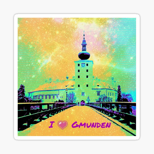 I love Gmunden Pop Art Sticker