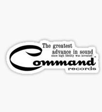 Command Records Sticker