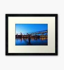Impressions of London - Millennium Bridge and St. Paul's Cathedral Framed Print
