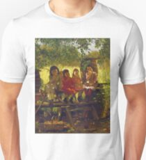 John George Brown - The Cider Mill. Female child portrait: cute girl, girly, female, pretty angel, child, beautiful dress, face with hairs, smile, little, kids, baby T-Shirt