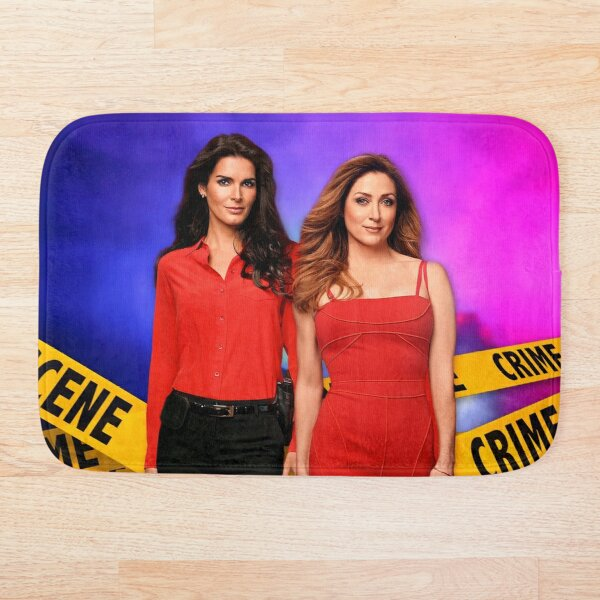 Rizzles on a police background (Rizzoli & Isles) Bath Mat
